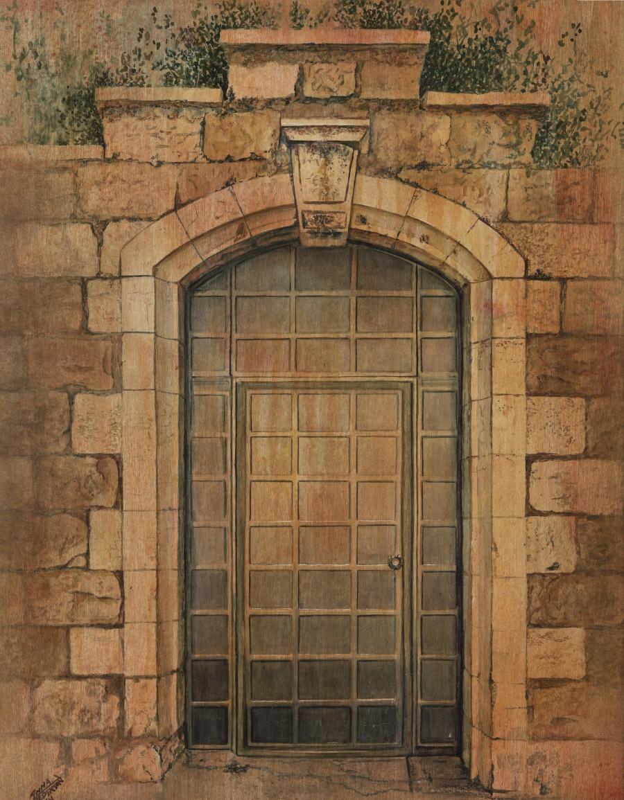 Garden tomb door